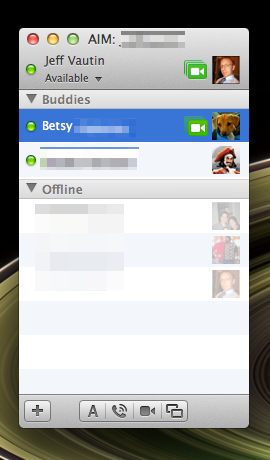 Buddy List in Messages