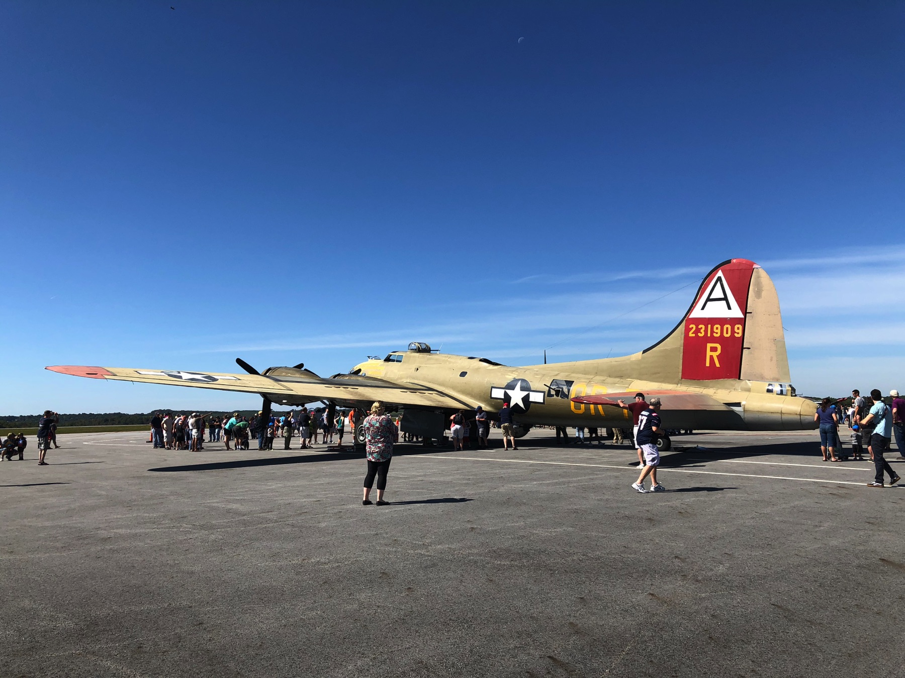 Collings Foundation B-17 at ORH on September 22, 2019.