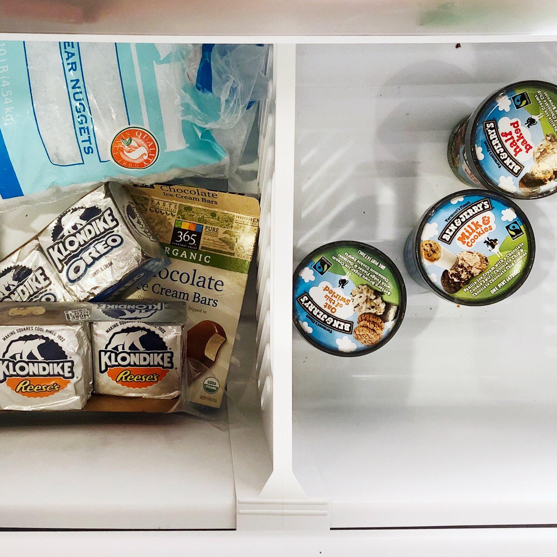 A freezer full of treats.