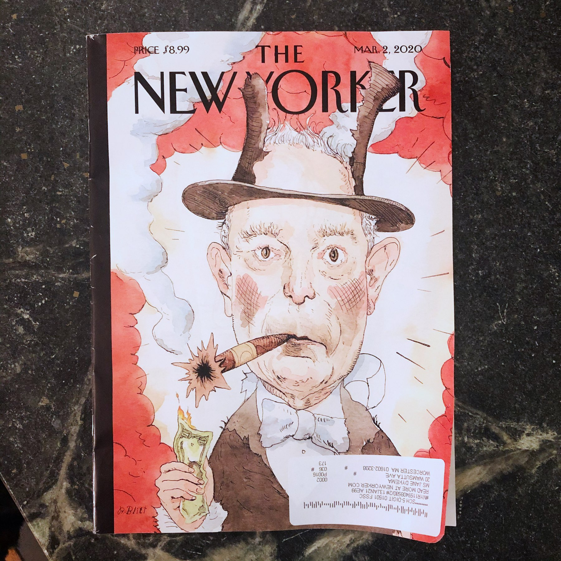 Bloomberg on cover of New Yorker